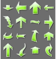 Different green arrows vector