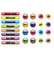 Sales tags buttons vector