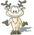 Cute reindeer cartoon vector