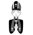 Catholic priest bishop pope vector