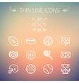Sports thin line icon set vector