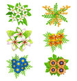 Spring colorful flowers set vector