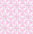 White tile ornament with light pink layering vector