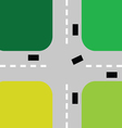 Intersection with cars color vector
