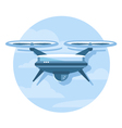 Drone icon flat vector
