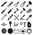 Auto mechanic tools set vector