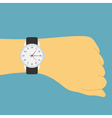 Hand watch vector