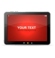 Black tablet like ipade on white background vector