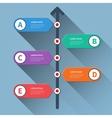 Timeline minimal arrow step styled infographics vector