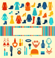 Women accessories shopping background vector