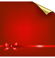 Red bokeh background with bow vector