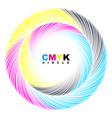 Abstract cmyk circle vector