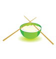Japanese rice bowl with sticks part two vector