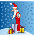Santa claus christmas cartoon vector