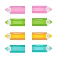 Pencil template set four step infographic flat vector
