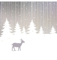 Winter forest and goat new year background vector