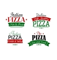 Various italian pizza labels set vector