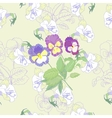 Seamless pattern with flowers and pansies vector