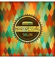 Hairdressing background in retro style vector