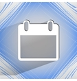 Calendar flat modern web design on a flat vector