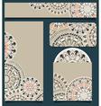 Branding design with tribal art pattern vector