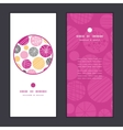 Abstract textured bubbles vertical round vector