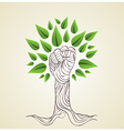 Go green hand concept tree vector