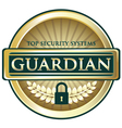 Guardian gold label vector