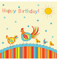 Patchwork greeting card vector