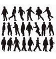 Boys silhouettes vector