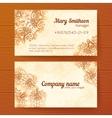 Ornate vintage business cards template vector