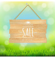 Sale wooden board vector