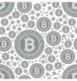 Bitcoin coins seamless pattern vector
