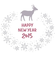 Christmas snow garland background with goat vector