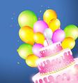Beautiful of birthday card vector