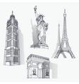 Set of famous landmarks vector