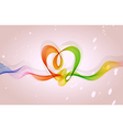 Abstract background heart vector