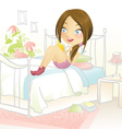 Reading in bed vector