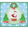 Christmas greeting card - funny santa claus vector