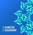 Blue green asymmetric abstract geometric vector