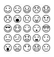 Smiley faces elements for website design vector