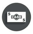 Cash sign icon money symbol coin vector