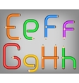 Color pencil alphabet style vector
