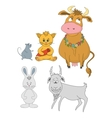 Set cartoon animals vector