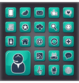 Internet communication universal buttons vector