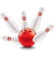 Object skittles and bowling ball vector
