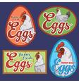 Eggs vintage labels set vector