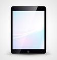 Tablet pc with wallpaper isolated on white vector