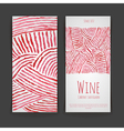 Set of wine labels artistic watercolor background vector