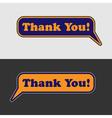 Thank you - two speech bubbles vector